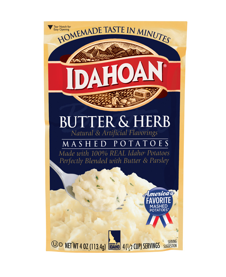Butter & Herb Flavored Mashed Potatoes