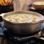 Seafood Chowder is a staple on Friday menus year-round.