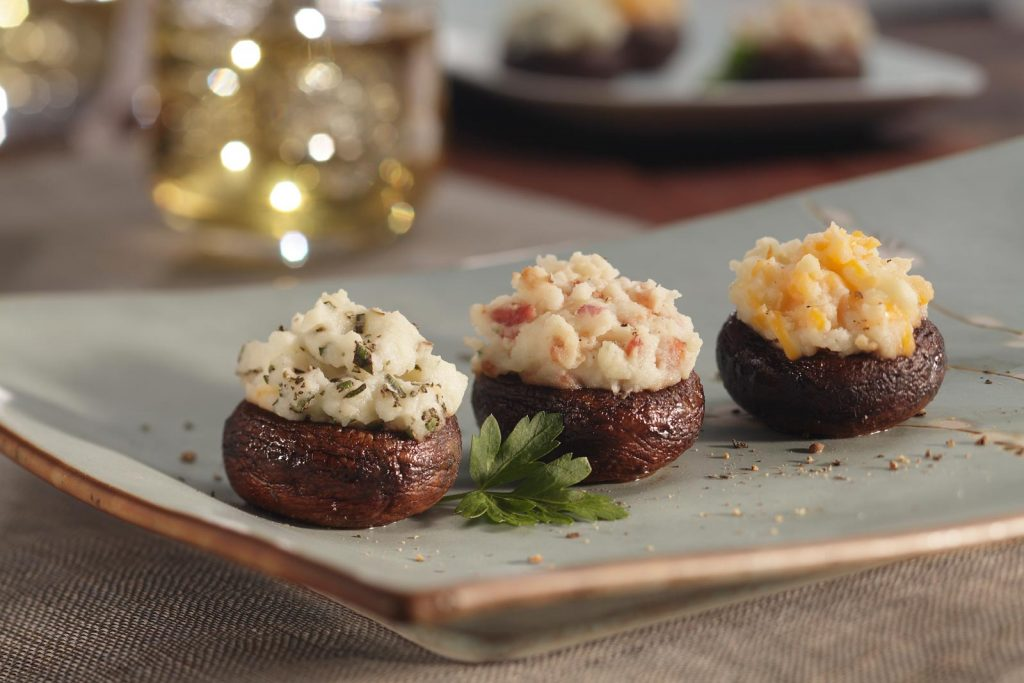 Italian Potato Stuffed Mushrooms Recipe