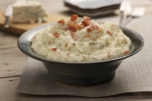 Red and Blue Mashed Potatoes
