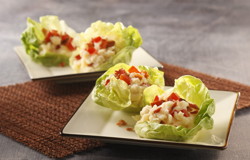 BLT Mashed Potato Cups