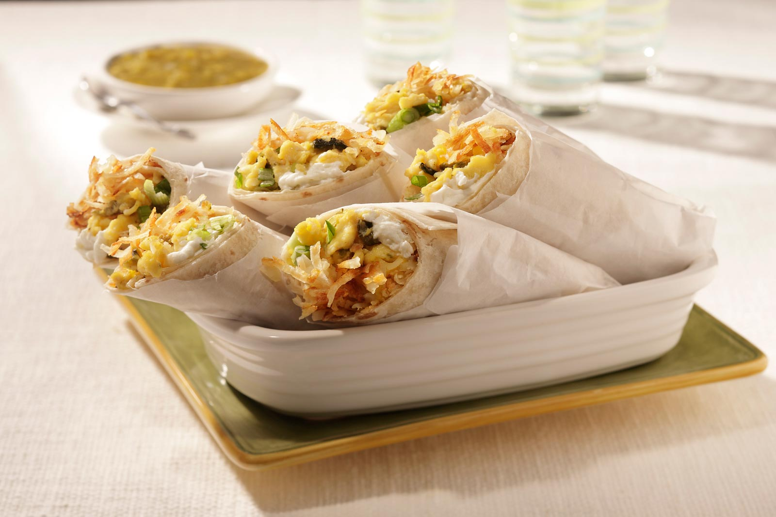 Hash Brown Breakfast Burritos are the perfect start to the day!