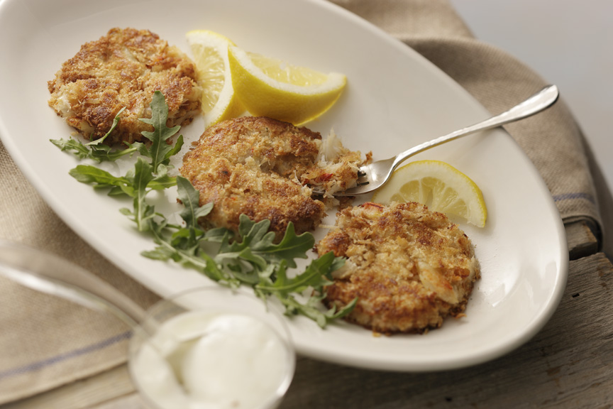 ... and dinner is ready with this recipe for Crab Cakes with Lemon Aioli