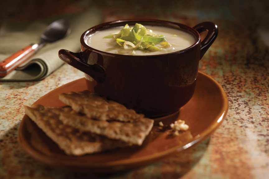 ... Roasted Garlic Potato Leek Soup pulls in a touch of garlic for a new