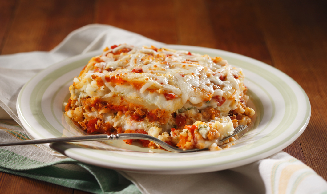 Buffalo Chicken Layered Mashed