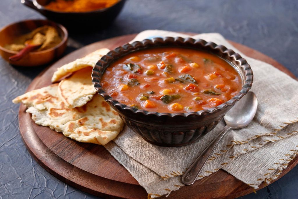 Spicy Indian Potato Bean Soup