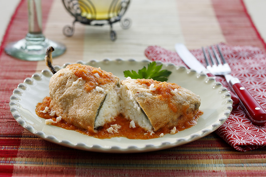 Stuffed Chiles Rellenos – more sauce