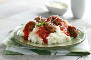 Meatballs-on-Roasted-Garlic