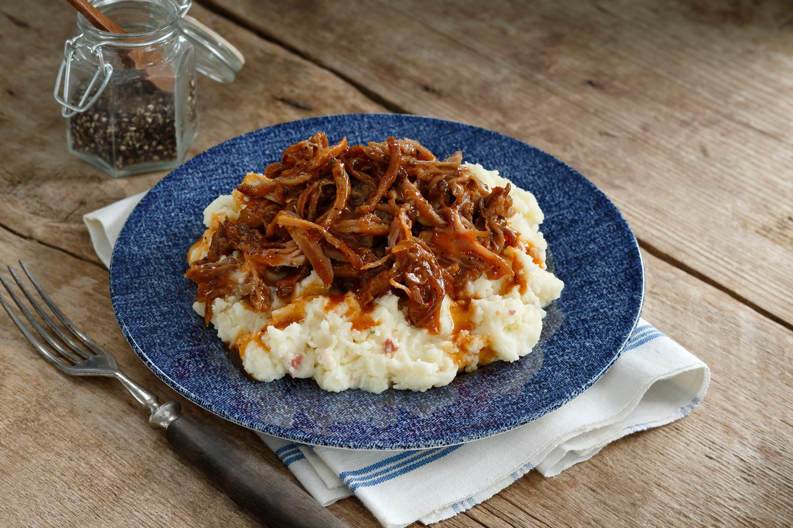 Mashed Potatoes with Pulled Pork