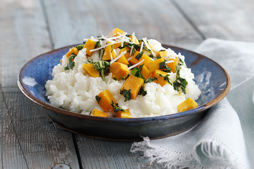 Mashed with Butternut Squash and Kale