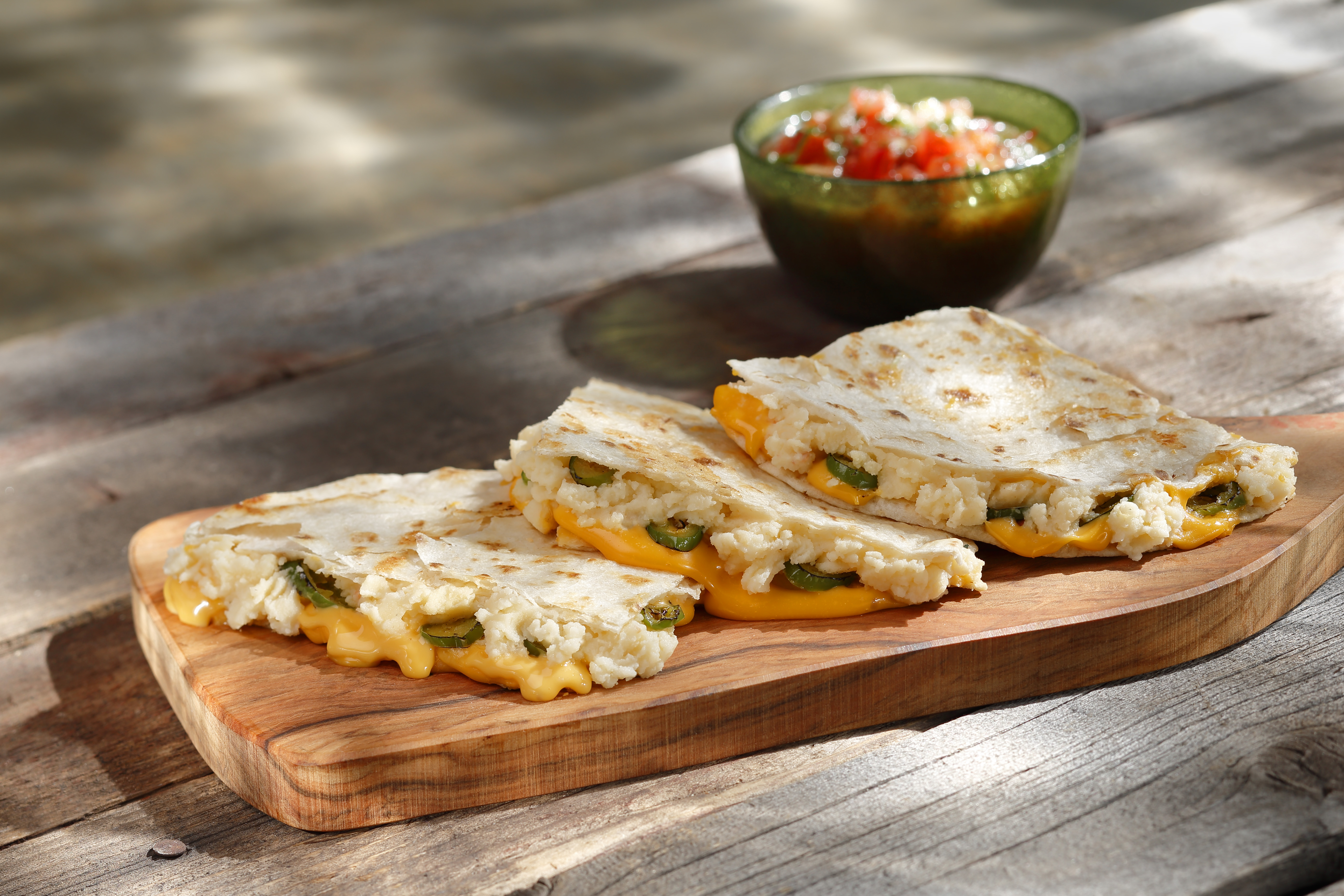 Bacon & Cheddar Chipotle Quesadillas