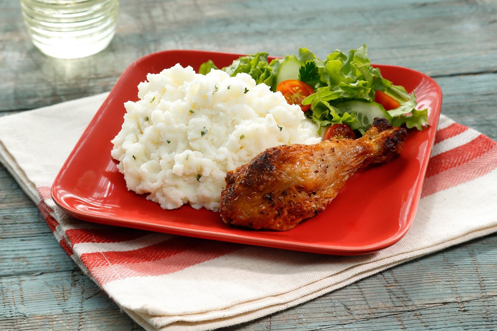 Chicken-Leg-on-Sour-Cream-&-Chive