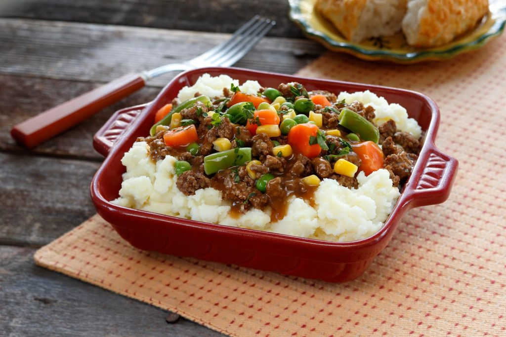 We're taking the traditional and turning it on its ear with this upside-down shepherds pie!