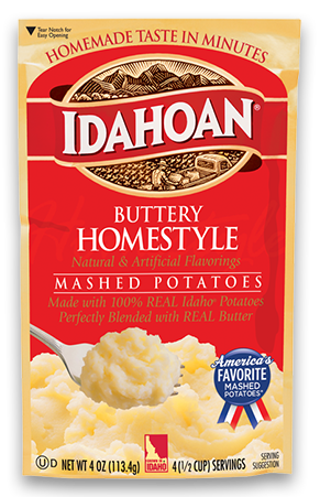 idahoan buttery homestyle mashed potatoes idahoan mashed potatoes idahoan foods llc. Black Bedroom Furniture Sets. Home Design Ideas