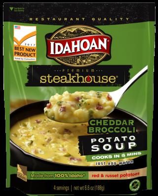 Idahoan Steakhouse Cheddar Broccoli Potato Soup Idahoan Mashed Potatoes Idahoan Foods Llc