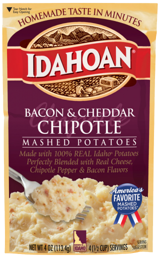 Flavored Mashed Bacon & Cheddar Chipotle Mashed Potatoes