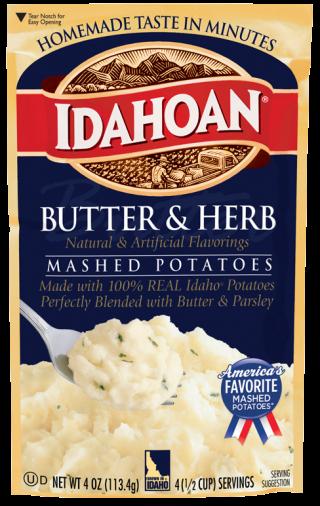 Butter And Herb Mashed Potatoes Idahoan Mashed Potatoes Idahoan Foods Llc