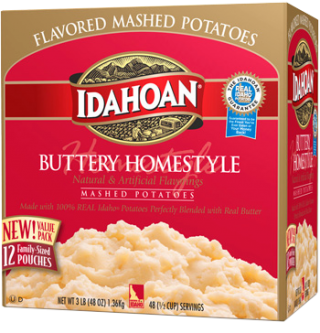 Buttery Homestyle 174 Mashed Potatoes Club Pack Idahoan