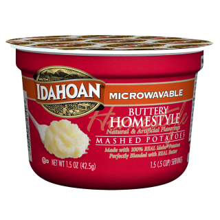 Buttery Homestyle 174 Mashed Potatoes Cup Idahoan Mashed