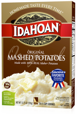 Idahoan® Original Mashed Potatoes 13.75oz - Idahoan Mashed Potatoes on box of instant potatoes, instant red potatoes, idahoan instant potatoes coupons, idahoan instant potato cups, herbed potatoes, baked potato, lyonnaise potatoes, trader joe's roasted potatoes, duchess potatoes, idahoan baked potatoes, ore-ida frozen potatoes, bangers and mash, idahoan instant potatoes directions, printable coupons for idahoan potatoes, yukon gold potatoes, slow cooker breakfast potatoes, pumpkin pie, potato chip, butter herb potatoes, shepherd's pie, boxed potatoes, pecan pie, wada farms potatoes, apple sauce, idahoan instant potatoes nutrition, walmart instant potatoes, olivier salad, idahoan hash brown potatoes, pommes dauphine, potato scone, green bean casserole, potato salad, apple pie, potato bread, russet burbank, make your own instant potatoes, bag potatoes,