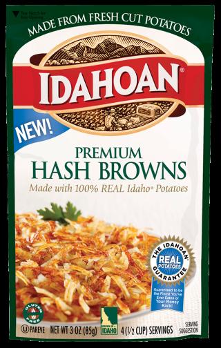 Premium Hash Browns - Idahoan Mashed Potatoes - Idahoan ...
