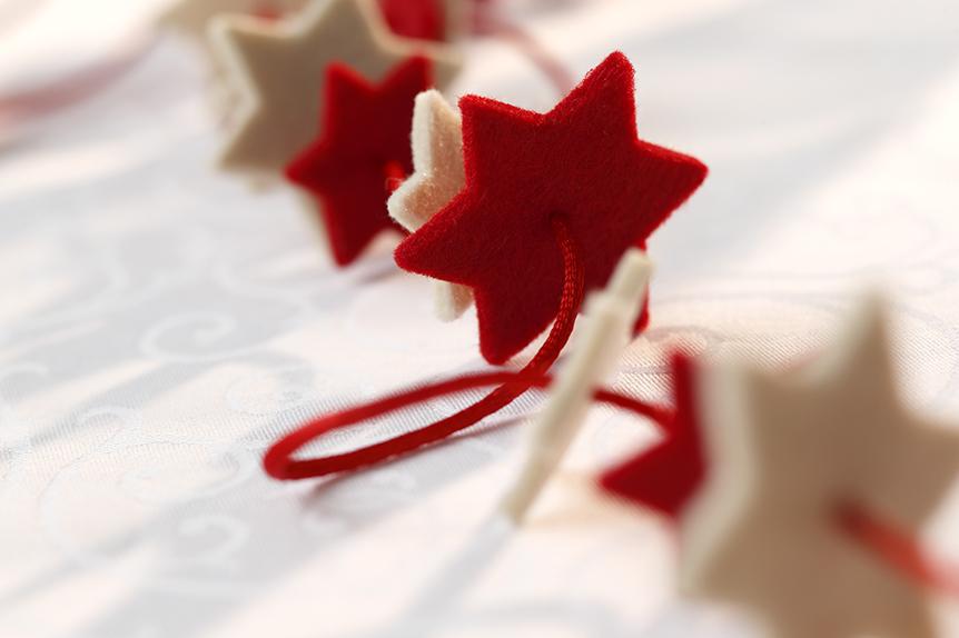 Red felt stars