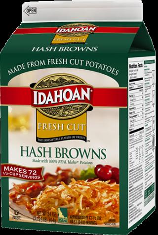 Premium Hash Browns Carton - Idahoan Mashed Potatoes ...