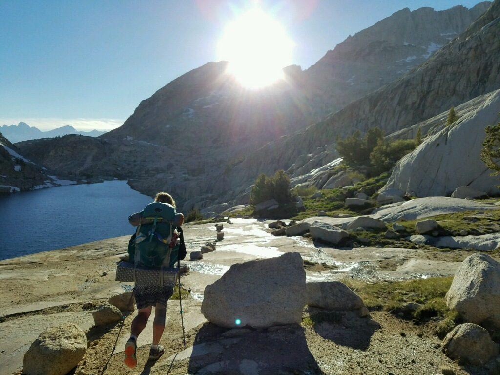 PCT-hike-lake
