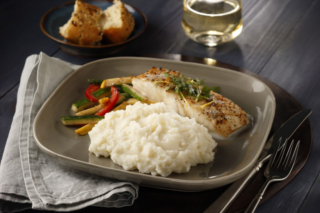 This full meal deal with halibut, veggies and mashed potatoes is an easy recipe for Lent or anytime you need a delicious, complete meal fast.