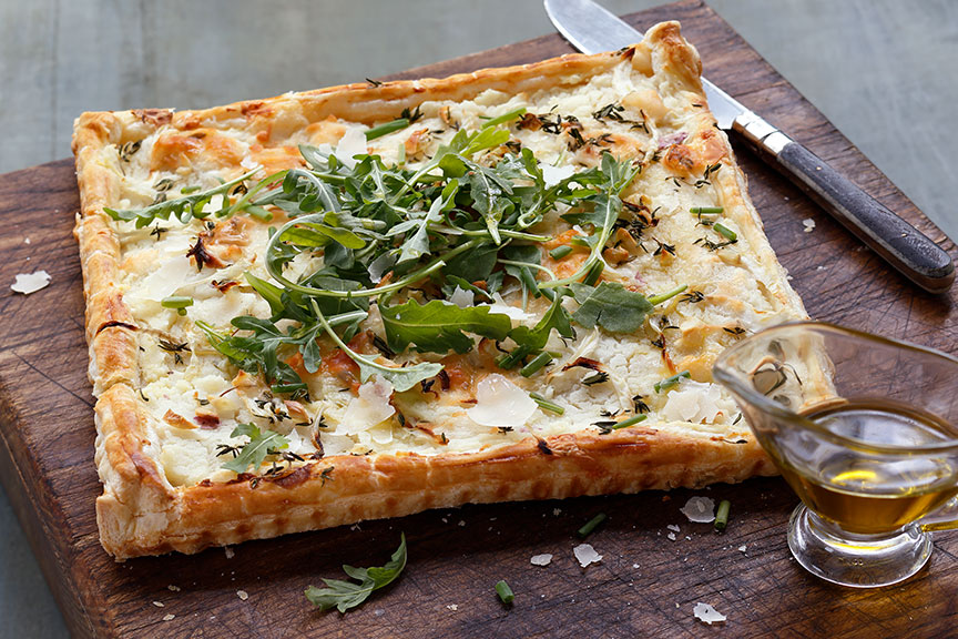 Garlic Parmesan Potato and Fennel Tart Recipe