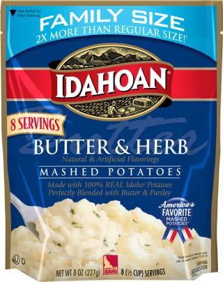 Butter and Herb Family Size 8 oz Mashed Potatoes - Idahoan