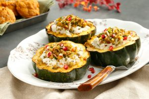 Potato Quinoa Stuffed Acorn Squash