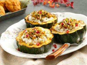 Potato Quinoa Stuffed Acorn Squash
