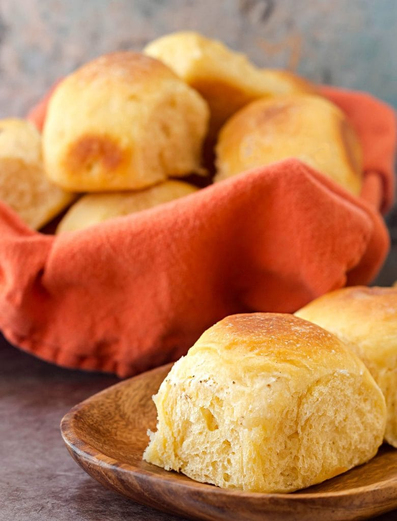 These rolls are easy to make when you start with a pouch of Idahoan mashed potatoes.
