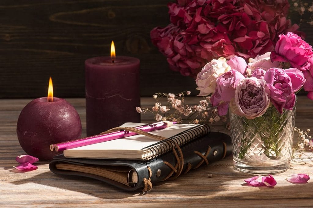 Valentine's Day at home with your favorite candles and memories.