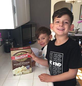 Some cute recruits to make Mashed Potato Play Dough!