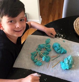 Fun creations with Mashed Potato Play Dough.