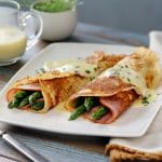 Potato Crepes made with Idahoan mashed potatoes