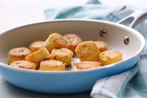 Potato Polenta Dumplings made a fun side dish