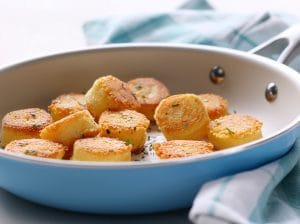 Potato Polenta Dumplings made a fun side dish