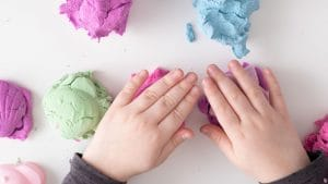 Mashed Potato Play Dough is a fun DIY project