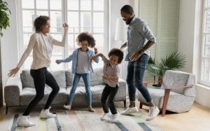 Impromptu dance party to celebrate Father's Day
