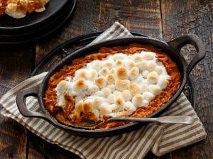 Sweet Potato Casserole with Pecans & Toasted Marshmallows